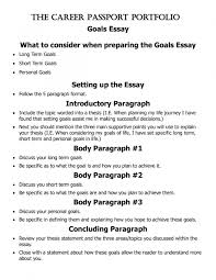 long term goal essay co long term goal essay