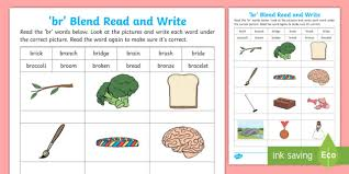 Many schools use the supported worksheets when the class is blending with new sounds and the. Br Blends Worksheet Phonics Primary Teaching Resources