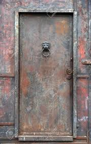 old rusty heavy industrial iron door stock photo 3314659