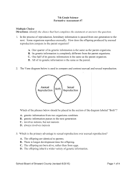 Venn Diagram Comparing Meiosis And Mitosis G7sc_test7 Secondary Science