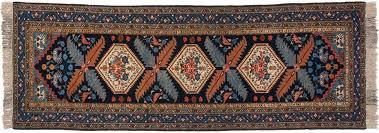 3x11 persian ardebil blue oriental rug runner 034970