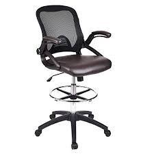 office drafting chair. ELECWISH Office Drafting Chair Adjustable Height, Mesh Back, Soft PU  Leather Seat With Flip Office Drafting Chair