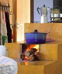 Delightful Traditional Wood Stove Painted Yellow Color