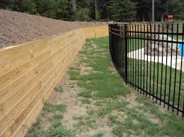 backyard pool pressure treated timber