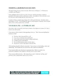Resume Reference Section References On Resume Format Resume Template ...