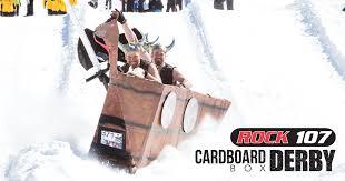Cardboard Box Sled Design Montage Mountain Cardboard Box Sled Derby Snow Tubing