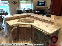 fresh countertop kits and kitchen countertops resurfacing kit metallic kit installed in kitchen stupendous