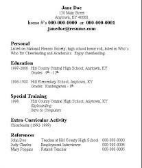 Samples Of Resumes For Highschool Students Easy Sample Resume Format Basic Sample Resume Resume Examples Simple