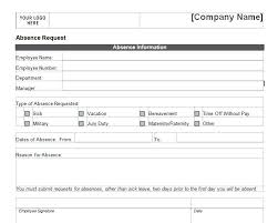 Sample Vacation Request Form Employee Vacation Request Form