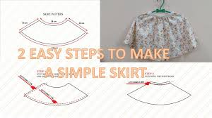 Simple Skirt Pattern Gorgeous How To Make Pattern And Sew A Simple Circle Skirt With Elastic Waist