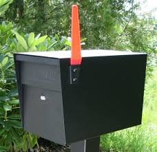 exterior contemporary and practical locking mailbox for your home