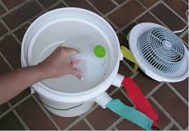 ice bucket fan air conditioner