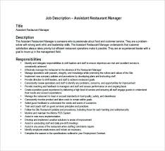 Assistant Manager Requirements Unforgettable Assistant Restaurant