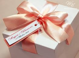Gift box with bow Wedding Image Etsy 25 Wedding Favor Gift Boxes With Satin Ribbon Bow And Etsy