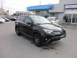 2017 toyota rav4 se leather sunroof nav heated seats awd black for 30995 in kingston niagarathisweek com
