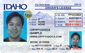 Markings Driver Holograms Idaho Uv License