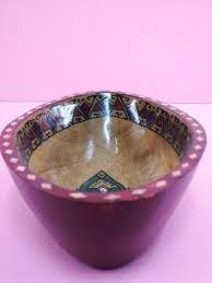 type wooden oval bowl