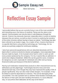 Example Of Reflective Essay That Really Stand Out Sample