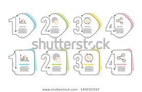 Click Chart Diagram Diagram Graph Call Center Click Icons Stock Vector Royalty