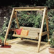 zest 4 leisure hollywood wooden garden swing seat bench hammock