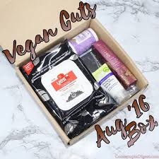 unboxing of the august 2016 vegan cuts beauty box a free makeup and