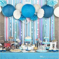 set of 13 blue pink beach themed party under the sea party decoration set girls boys birthday party baby shower 1st birthday chandelier party decoration