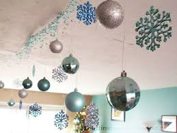 Ceiling Ball Decorations Cool Ceiling Christmas Decorating Ideas Pizzarusticachicago