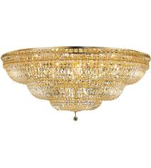 elegant lighting v2528f48g rc tranquil 33 light 48 inch gold flush mount ceiling light in
