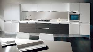 Black And White Kitchen Designs With Unique Chair And Elegant Cabinet; 022