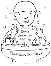 free printable coloring page to teach kids about hygiene germs are not for sharing hand washing free printable hand washing coloring pages