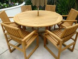 round wooden outdoor table patio ideas wood top for teak tables cape town