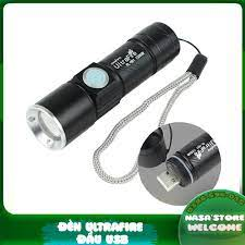 Đèn pin cổng sạc usb siêu sáng cao cấp
