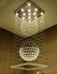 k crystal stair led square chandeliers modern creative fashion