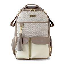 Amazon.com : Itzy Ritzy Diaper Bag Backpack – Large Capacity Boss Backpack  Diaper Bag Featuring Bottle Pockets, Changing Pad, Stroller Clips and  Comfortable Backpack Straps, Vanilla Latte : Baby