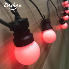 Red Globe String Lights Us 33 91 36 Off Dachan Ip65 Rgb Festoon Globe Ball G50 Milky Bulb String Connectable Outdoor String Lights For Cafe Wedding Party Garland Lights In