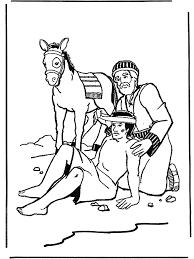 De Barmhartige Samaritaan 2 Bijbel Kleurplaten Nieuwe Testament