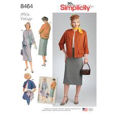 Simplicity Pattern Magnificent Simplicity Pattern 48 Misses' Vintage Skirt and Lined Jacket in
