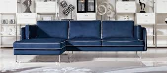 blue leather sofa couch contemporary blue fabric sectional sofa with white piping