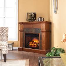 w corner faux stone infrared electric fireplace