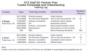 internal controls good pension scheme governance the pensions  trustee self assessment and appraisal myners principles