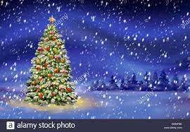 Christmas night, christmas tree on ...