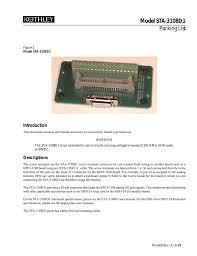 Model Sta 3108d1 Packing List