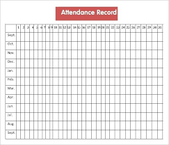 A Printable Sheet Find It Here As Free Attendance Template For