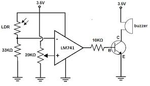 photoresistor circuit diagram the wiring diagram how to build a dark activated buzzer circuit circuit diagram