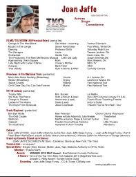 Resume Bio JOAN JAFFE Impressive Resume Bio