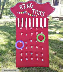 diy ring toss game many other circus party ideas