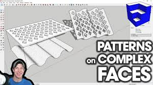 There are some basic tips we need to keep in mind when drawing lines in sketchup 18. Patterns On Complex Faces With Flowify For Sketchup Youtube