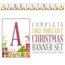 Complete Free Printable Christmas Banner Set The Cottage