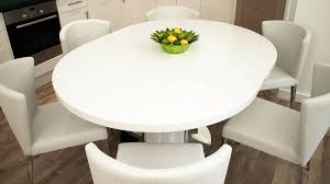modern round white gloss extending table 4 to 6 seater