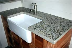 concrete countertop sink forms edge model ideas